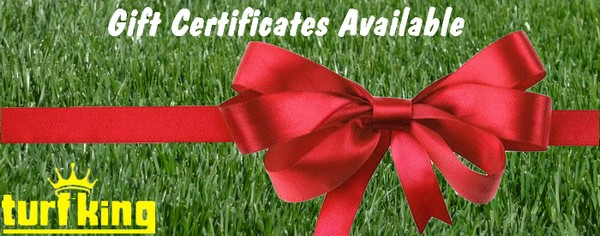 Lawn care gift certificates available at Turf King